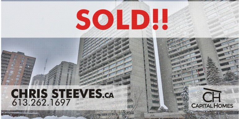 SOLD! - 500 LAURIER #207, OTTAWA CONDO