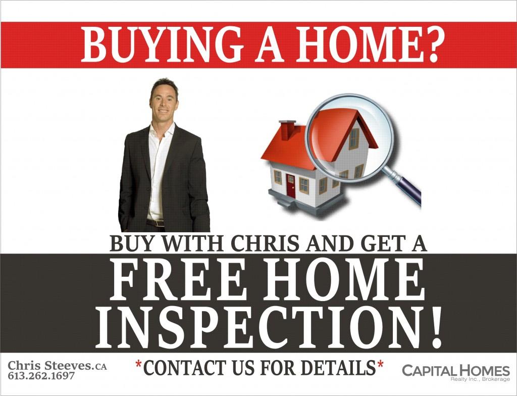 FREE HOME INSPECTION - CHRIS STEEves