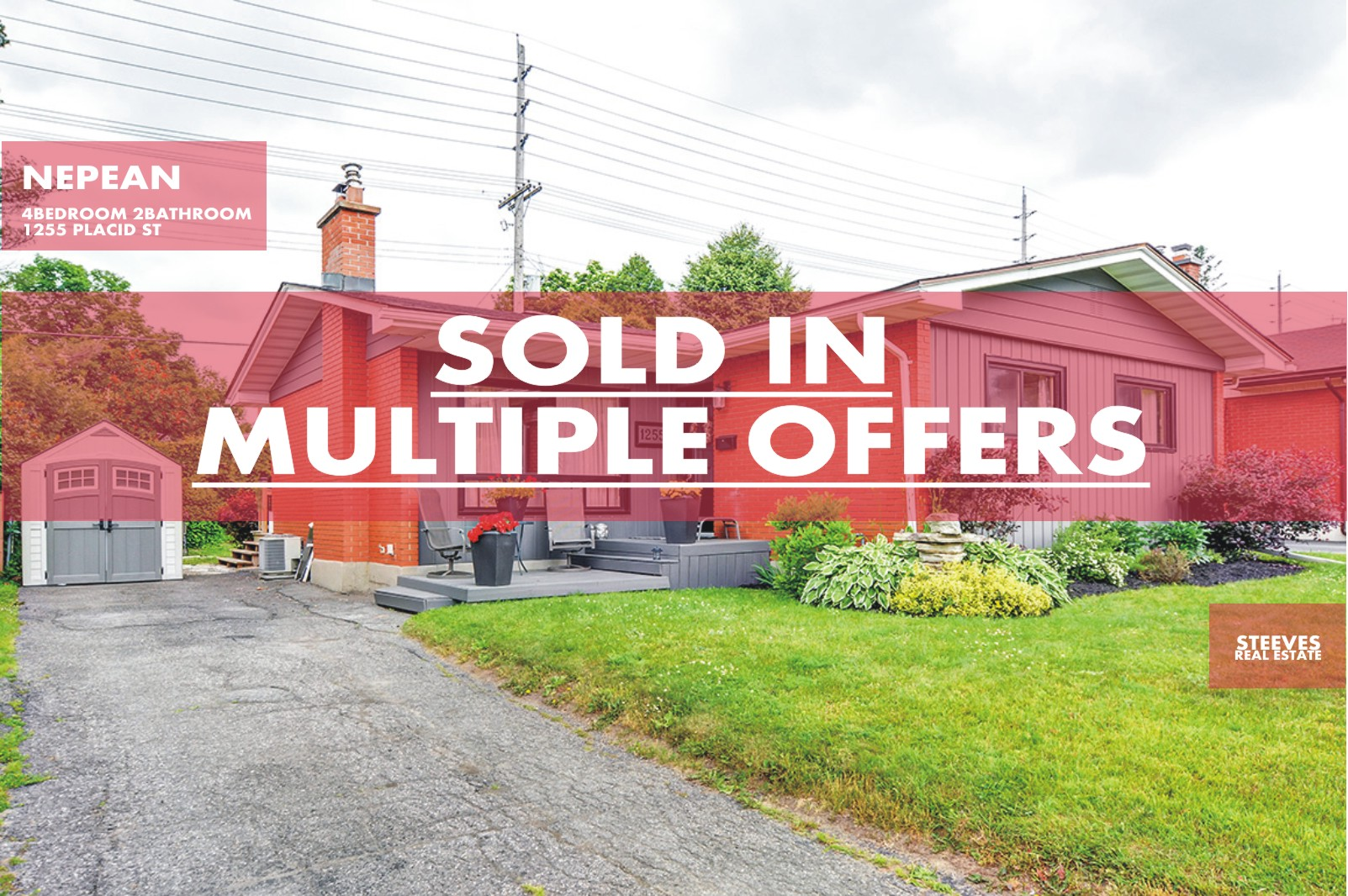 **SOLD**  – 1255 PLACID ST – NEPEAN BUNGALOW