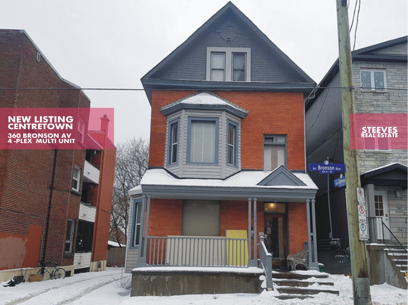 **CANCELLED**  – 360 BRONSON AV – 4PLEX IN CENTRETOWN