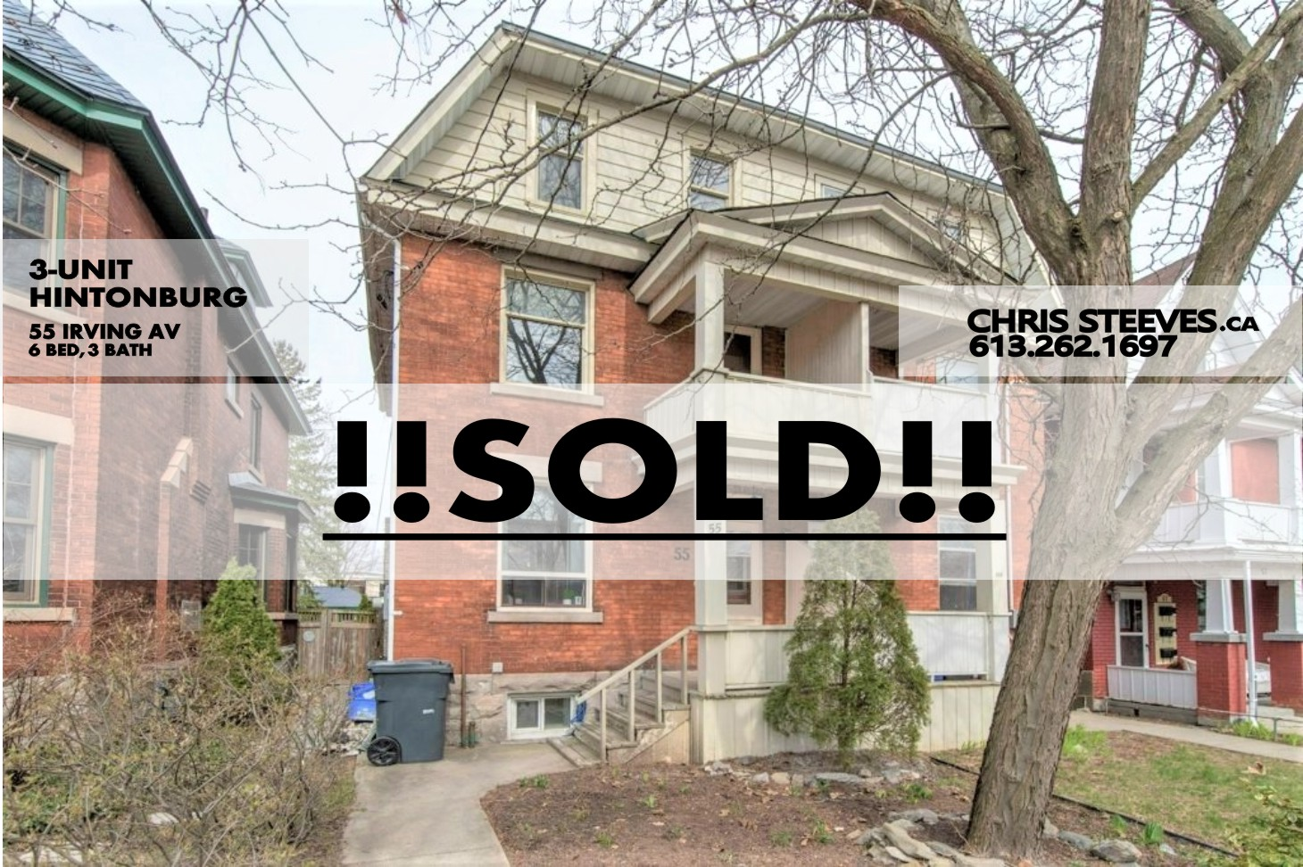 **SOLD** – 55 IRVING AVE – MULTI-UNIT IN HINTONBURG