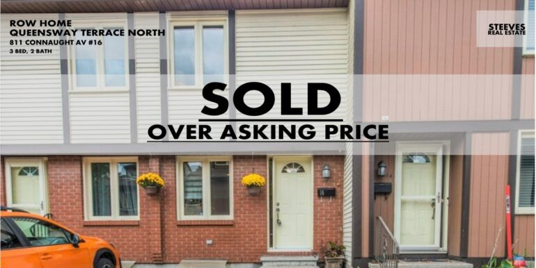 811 CONNAUGHT #16 - QUEENSWAY TERRACE NORTH TOWNHOME - OTTAWA
